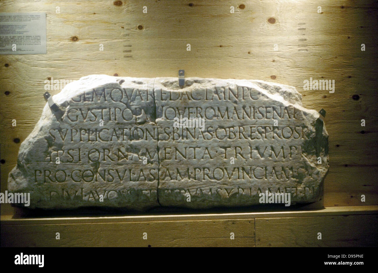 Latin inscription (Roman) - Stock Image