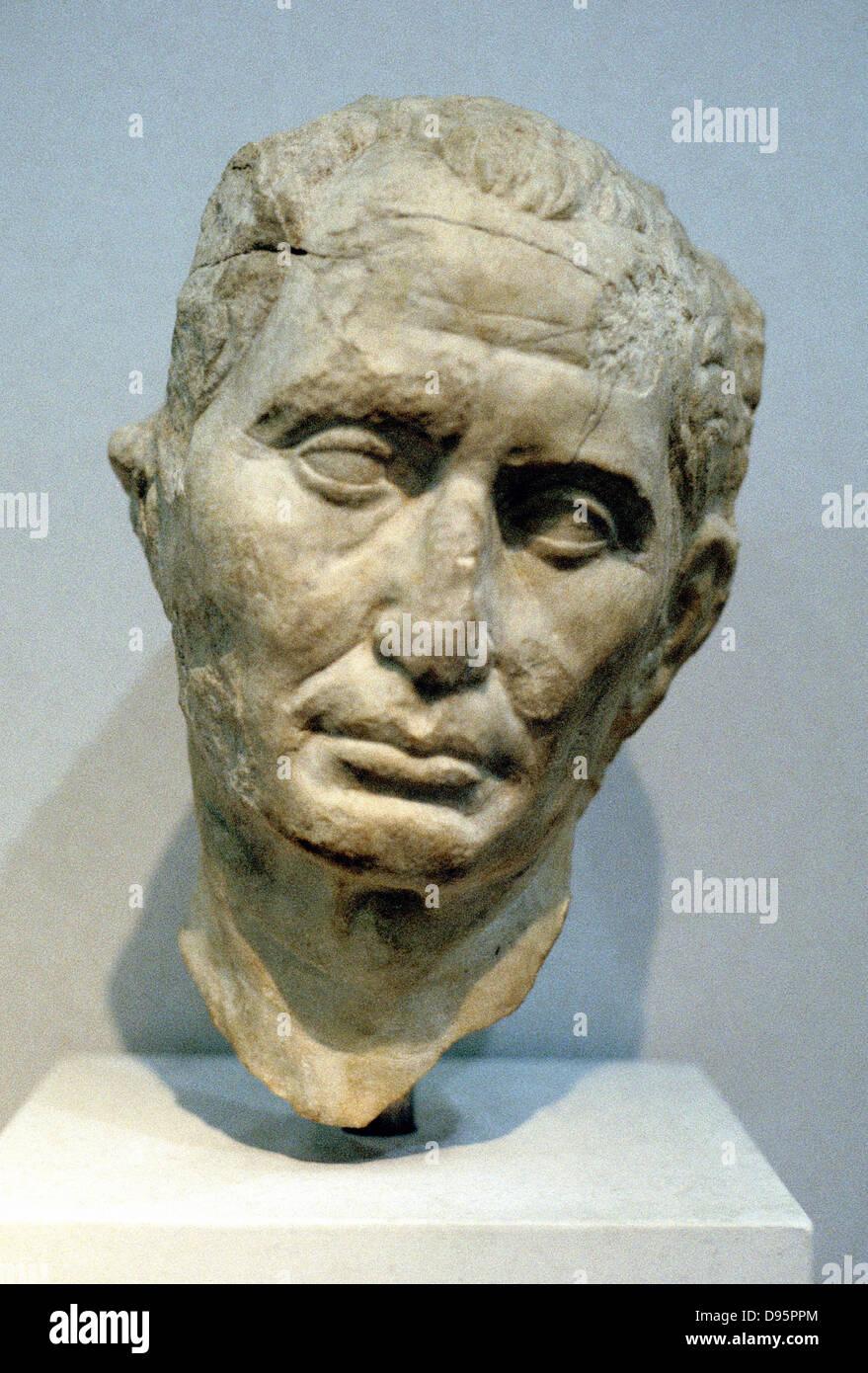 Julius Caesar (c100-44 BC) Roman soldier and statesman. Portrait bust - Stock Image