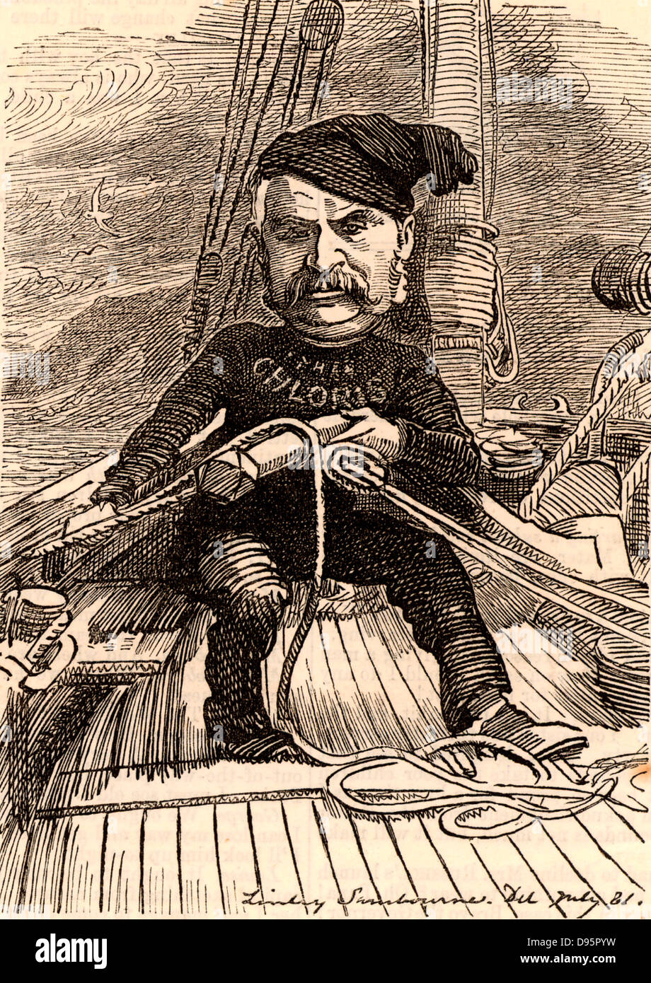 William Schwenck Gilbert (1836-1911) English librettist and dramatist, best remembered for his collaboration with - Stock Image