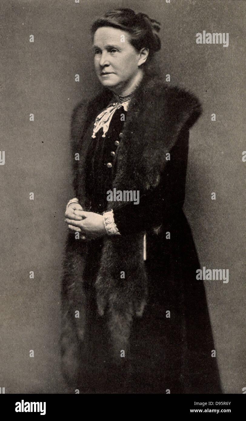 Millicent Fawcett (born Garrett - 1847-1929) English feminist, for 50 years a leader of movement for women's - Stock Image