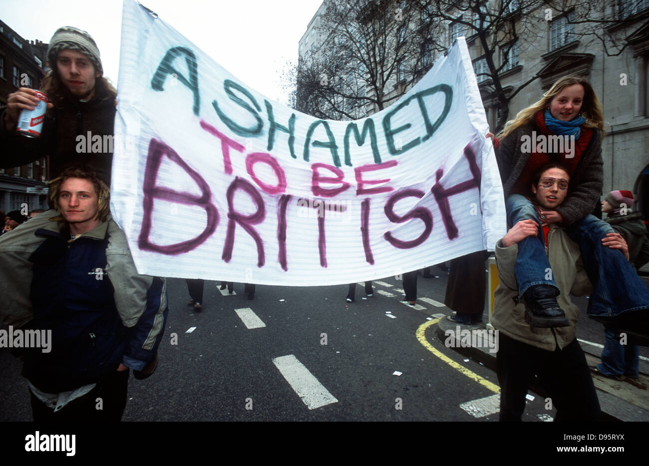 Stop the War in Iraq demo, London, UK, 15 February 2003. - Stock Image