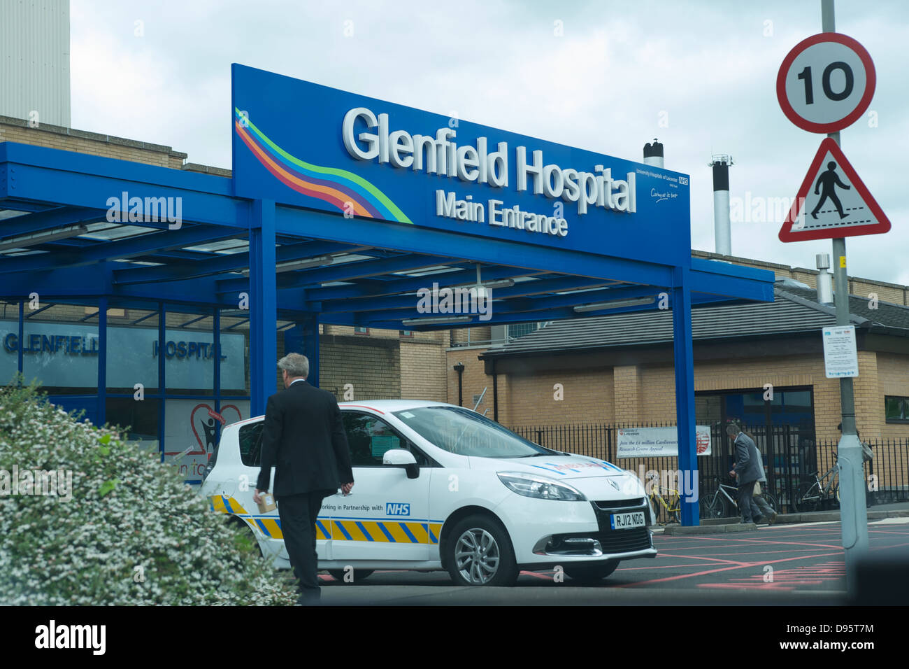 Glenfield Hospital Main Entrance - Stock Image