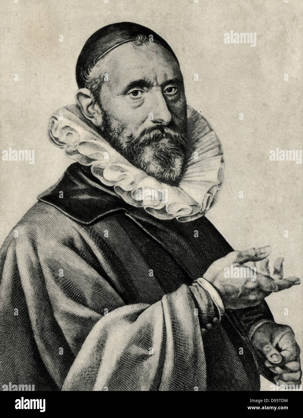 Jan Pieterszoon Sweenlinck (1562-1621) Dutch composer and organist at the Old Church, Amsterdam, from c1580 until - Stock Image