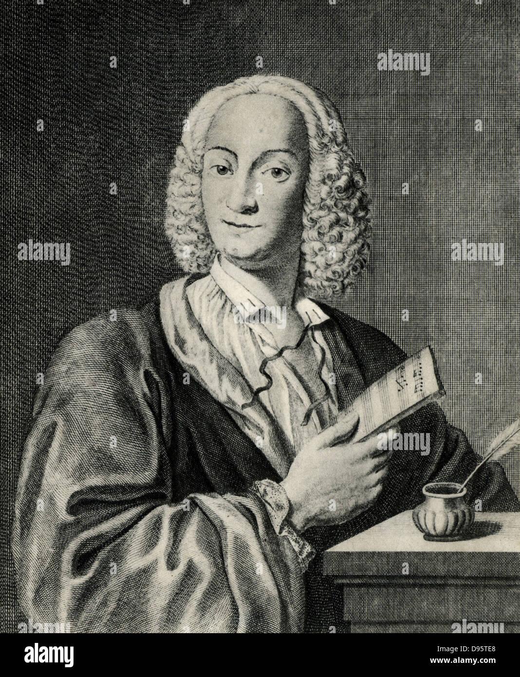 Antonio Vivaldi (1678-1741) Italian composer and violinist, born in Verona. - Stock Image