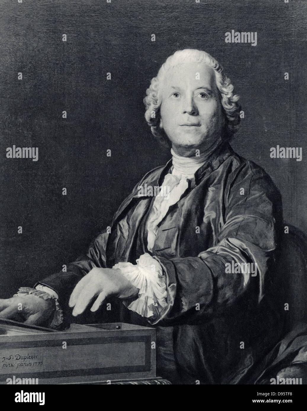 Christoph Willibald Gluck (1714-1787) Bohemian German composer. - Stock Image