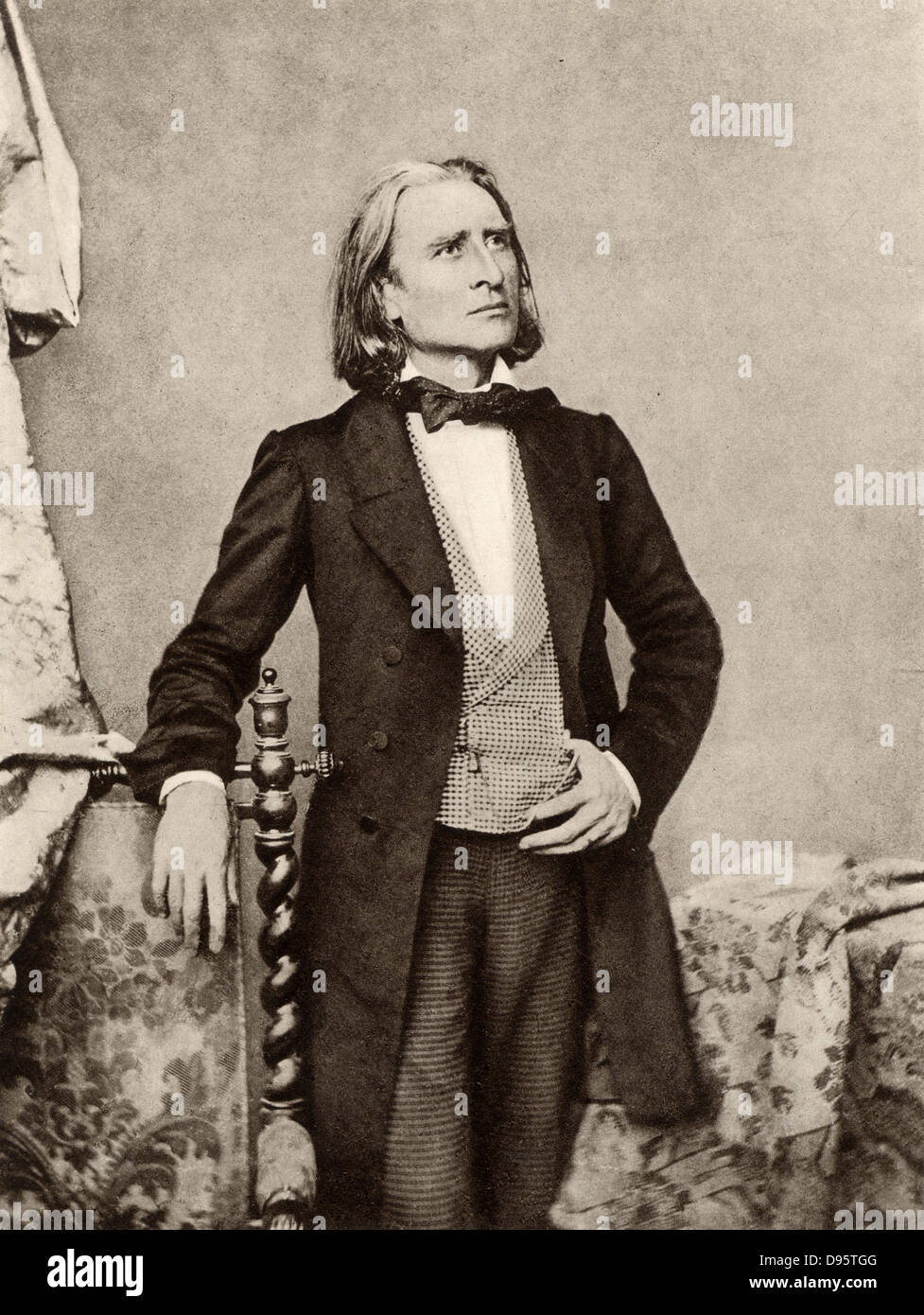 Franz (Ferencz) Liszt (1811-1886) Hungarian pianist and composer. After a photograph. - Stock Image