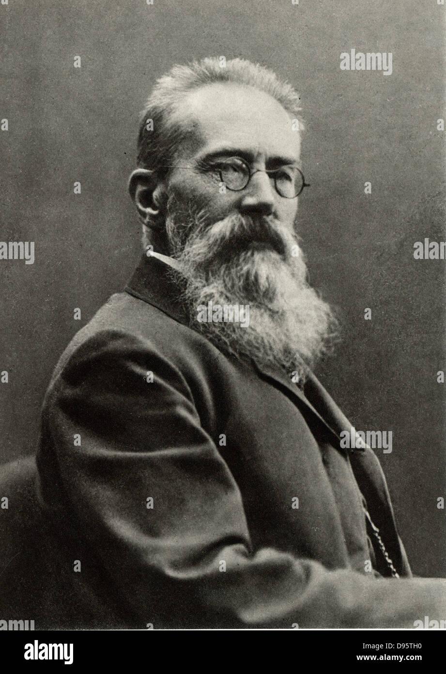Nikolay Andreievich Rimsky-Korsakov (1844-1908) Russian composer. After a photograph. - Stock Image