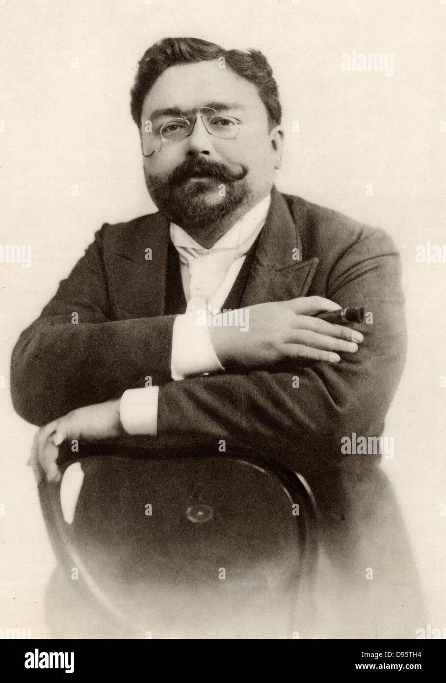 Isaac (Manuel Francisco) Albeniz (1860-1909) Spanish composer. - Stock Image
