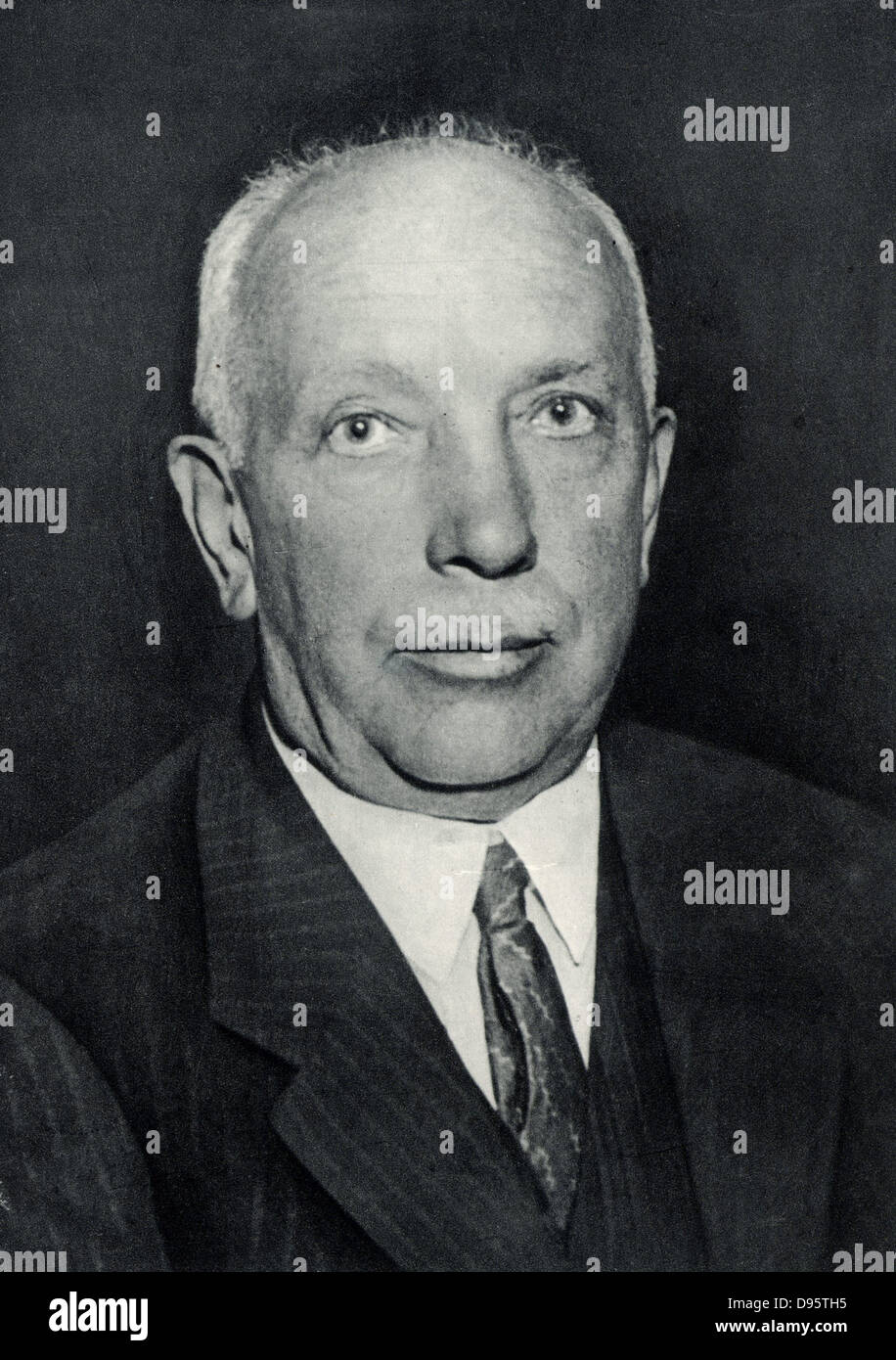 Richard (Georg) Strauss (1864-1949) German composer and conductor, born at Munich. - Stock Image