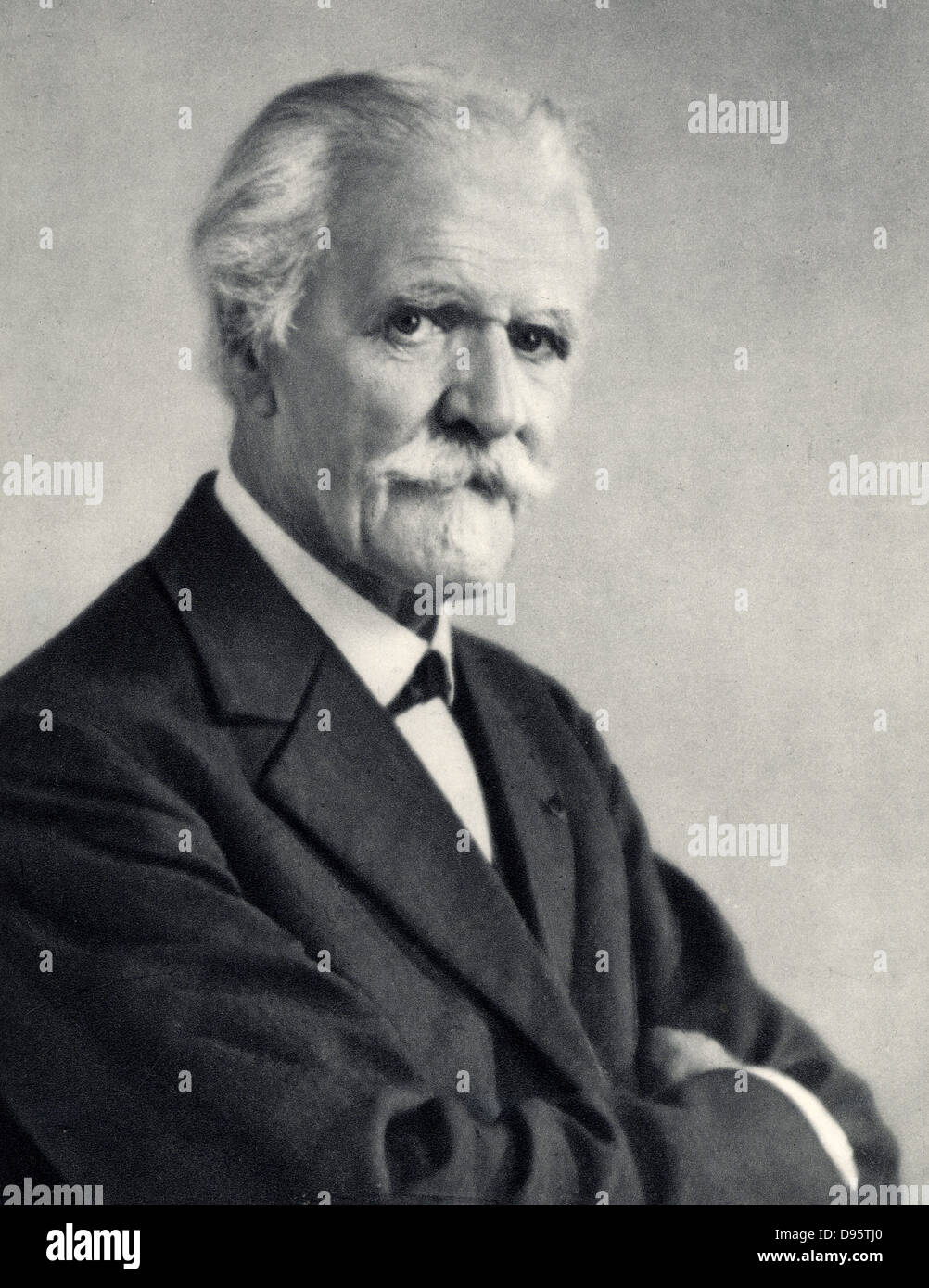 (Paul Marie Theodore) Vincent D'Indy (1851-1931) French composer.  From a photograph. - Stock Image
