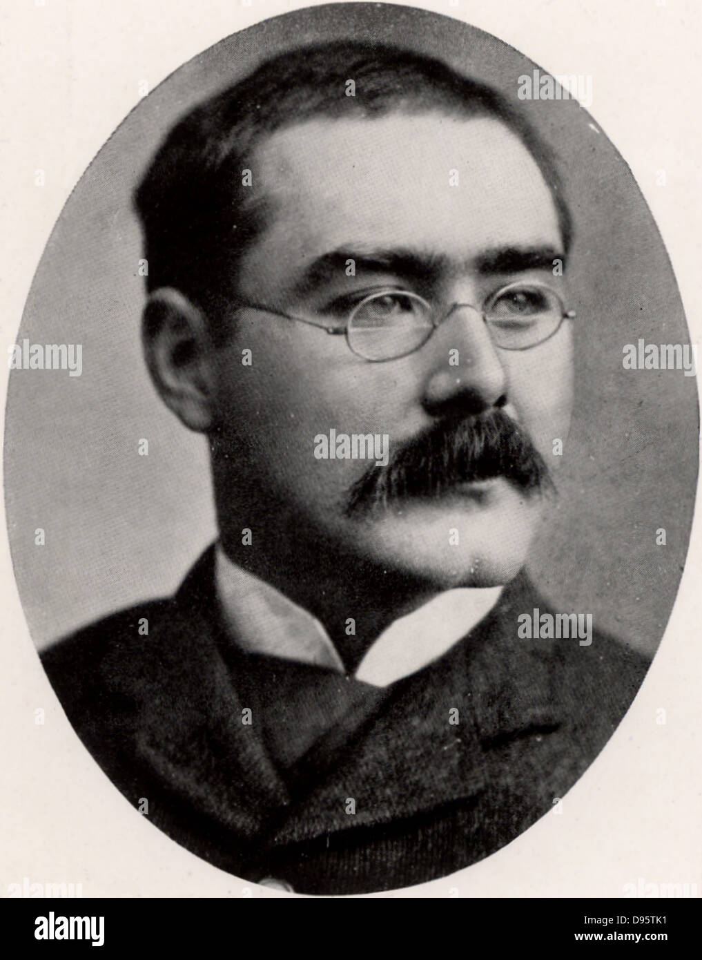 Rudyard Kipling (1865-1936) English journalist, novelist and poet, born in India. Halftone after a photograph. - Stock Image