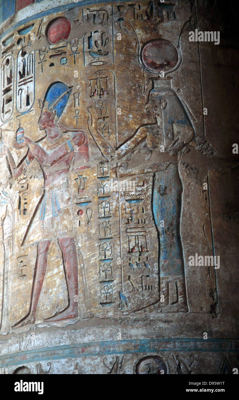 Goddess Isis with King Tuthmos...