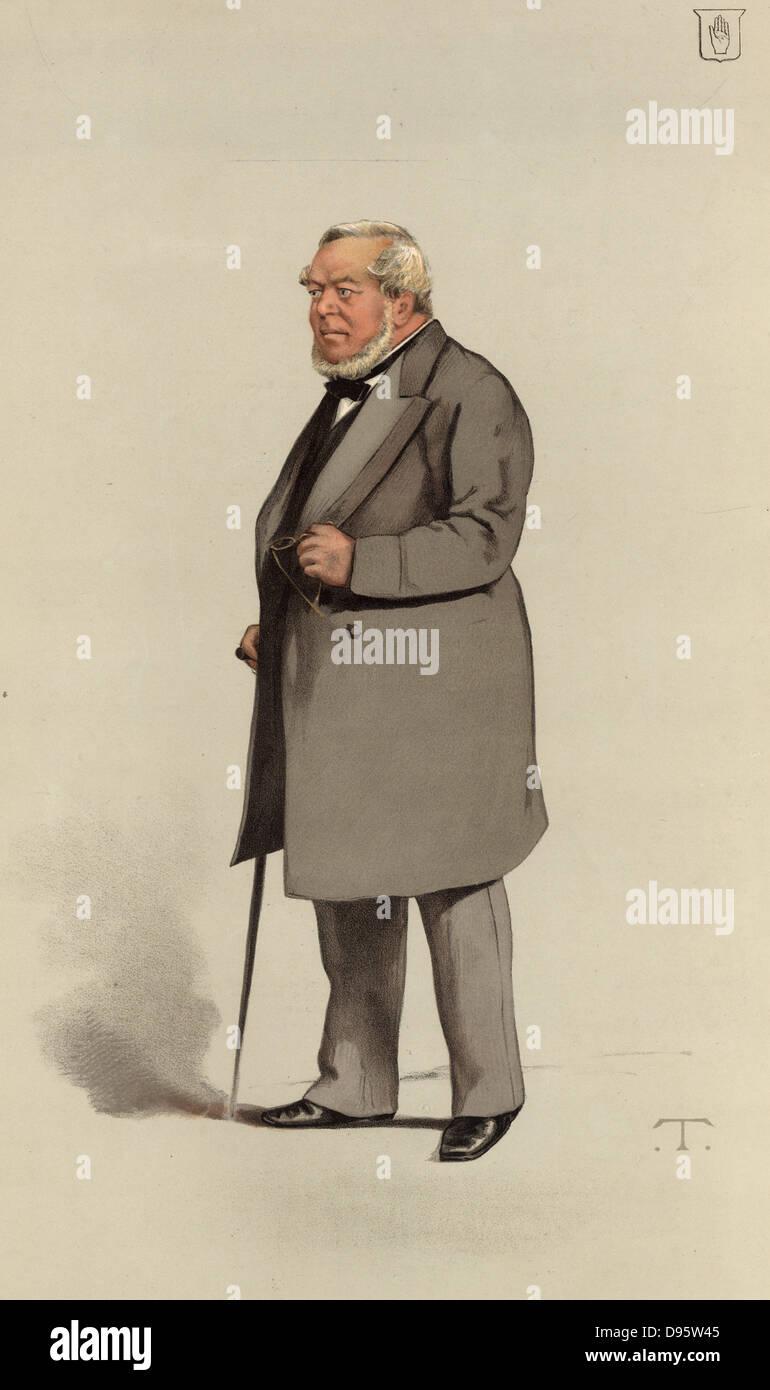 An Eminent Builder'. Charles James Freake (1814-1884) notable London builder, developer and philanthropist. - Stock Image
