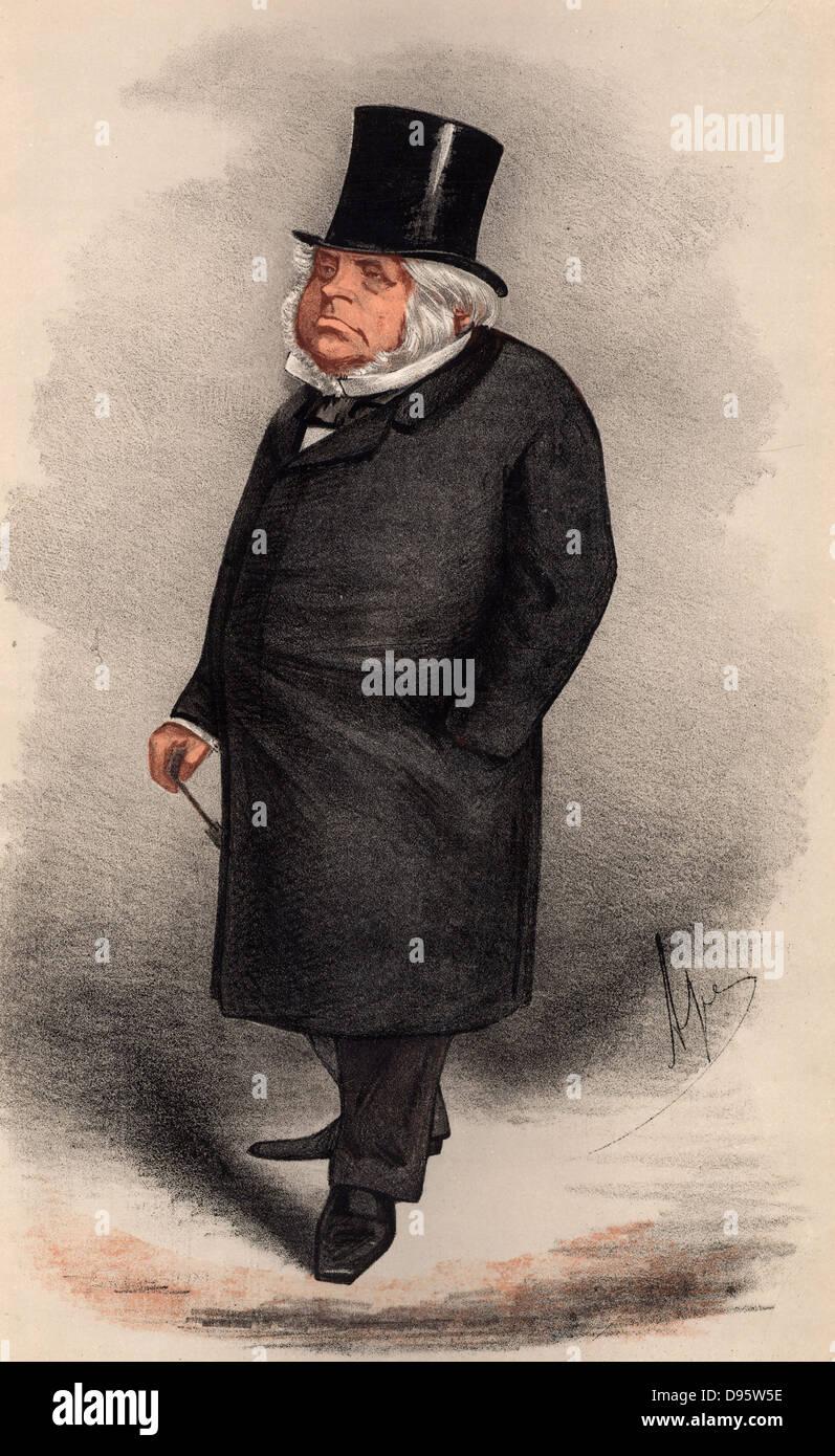 John Bright (1811-1889) British radical orator and statesman, born in Rochdale, Lancashire of Quaker parents.  First Stock Photo