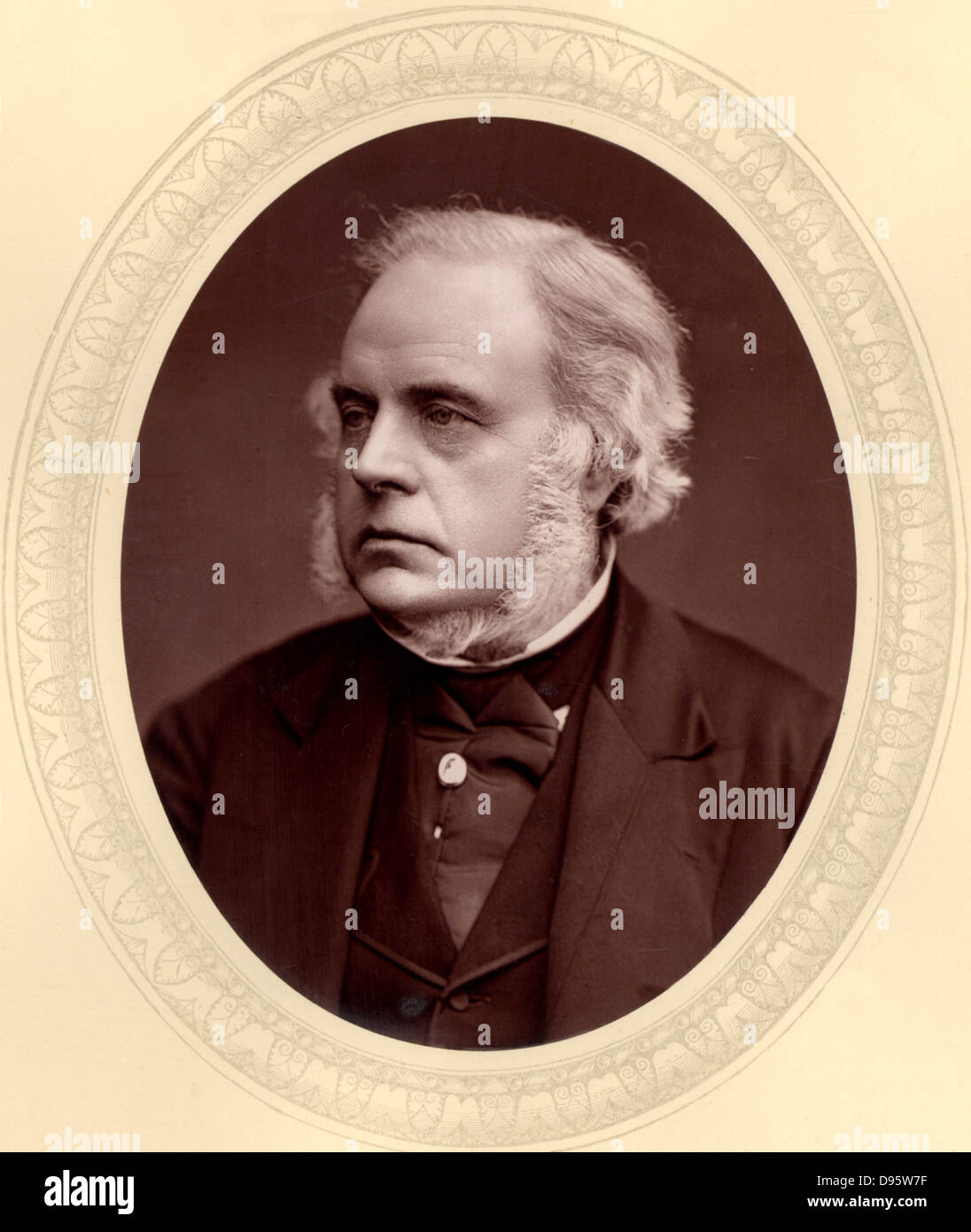 John Bright (1811-1889) British radical orator and statesman, born in Rochdale, Lancashire of Quaker parents.  First Stock Photo