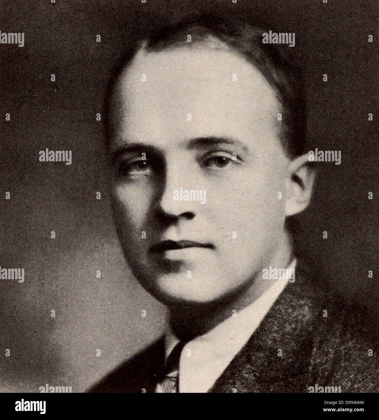 Charles Herbert Best (1899-1978) Canadian physiologist; assisted Banting in isolating the hormone Insulin. Discovered - Stock Image