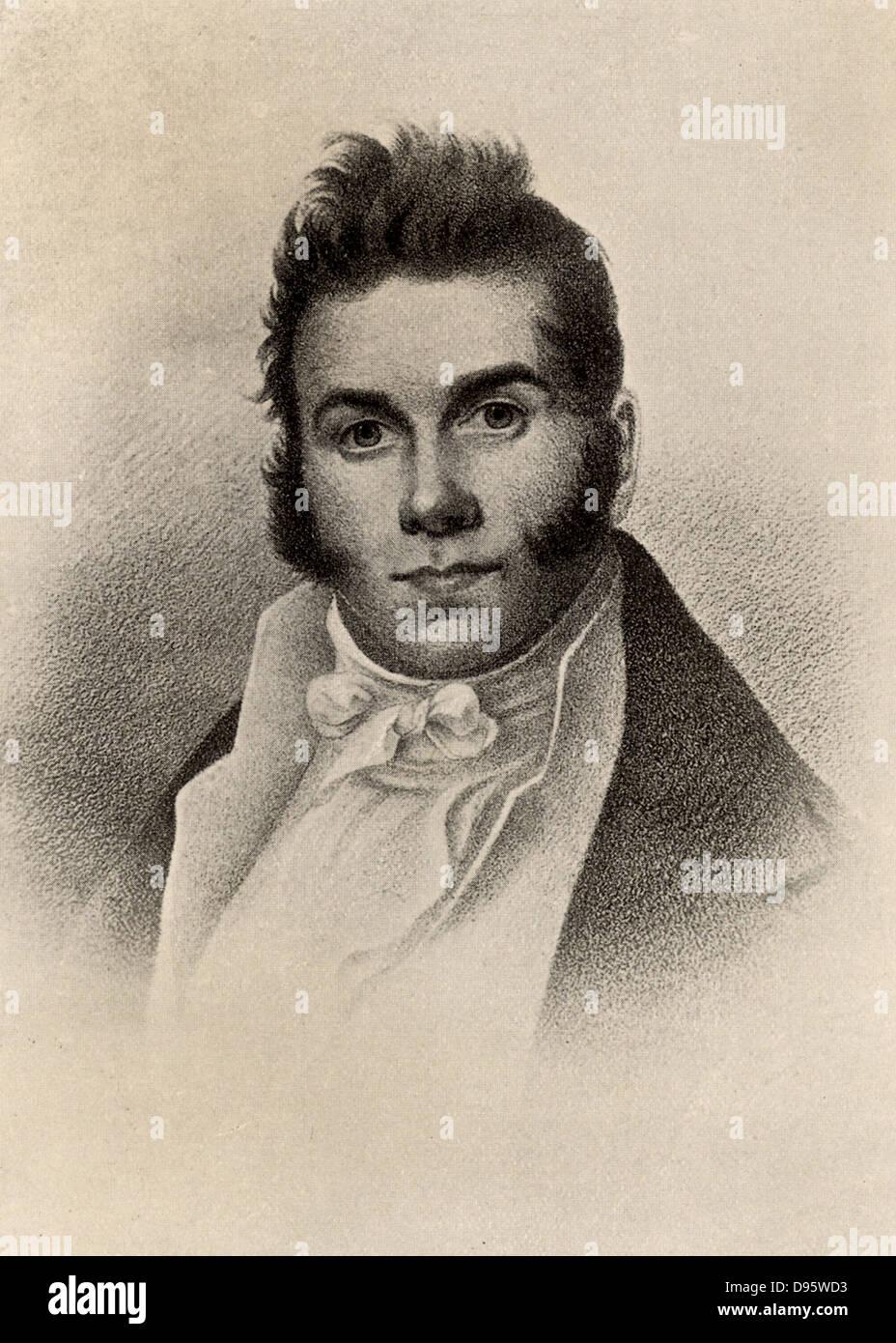 Thomas Say (1787-1834) American naturalist an entomologist. Halftone. - Stock Image