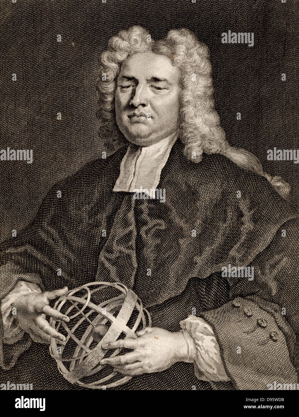 Nicholas Saunderson (1682-1739), English mathematician. Saunderson lost his sight to Smallpox when he was an infant. - Stock Image