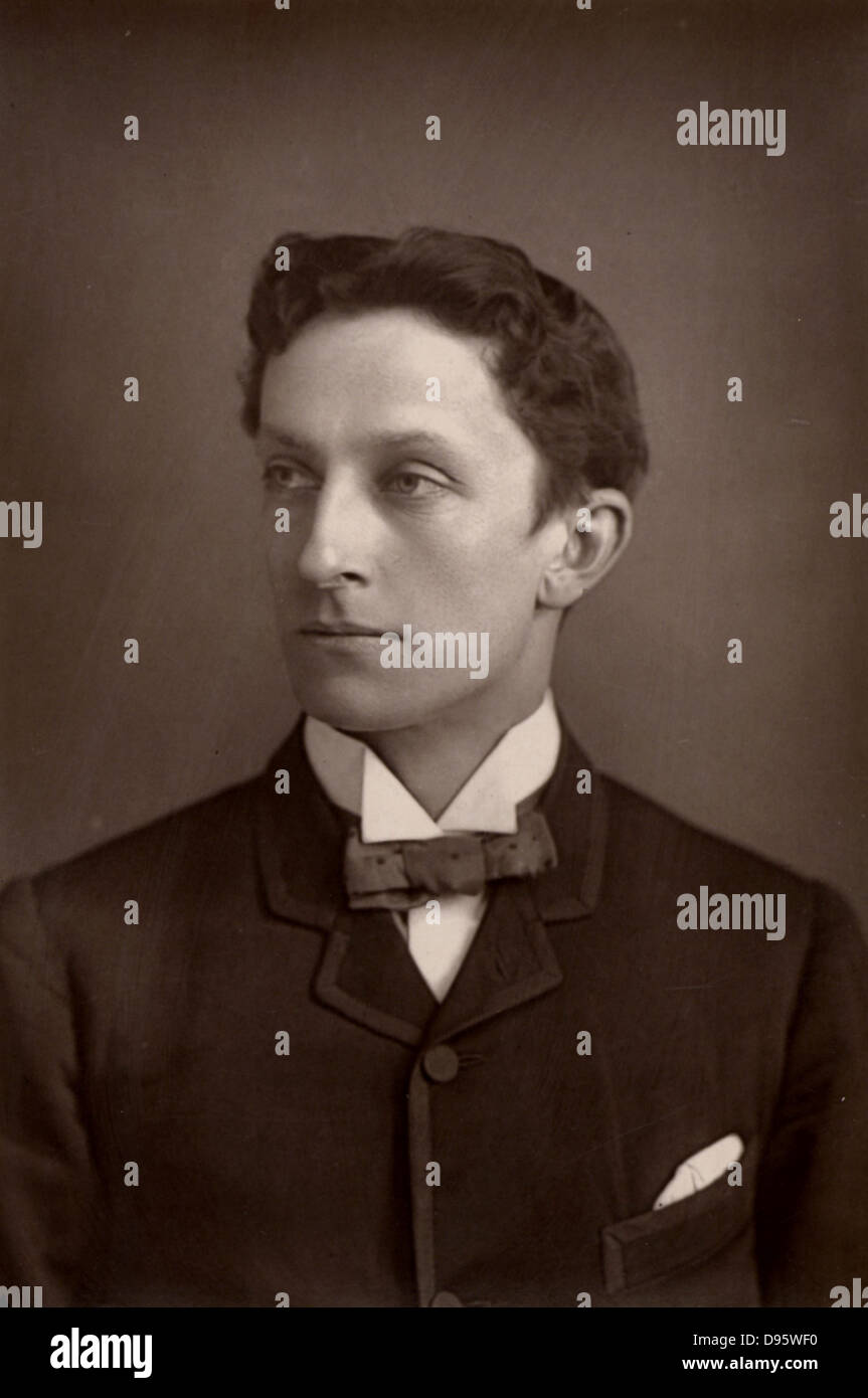 Johnston Forbes-Robertson (1853-1937) English actor, considered to be the leading Hamlet of his day.  A member of - Stock Image