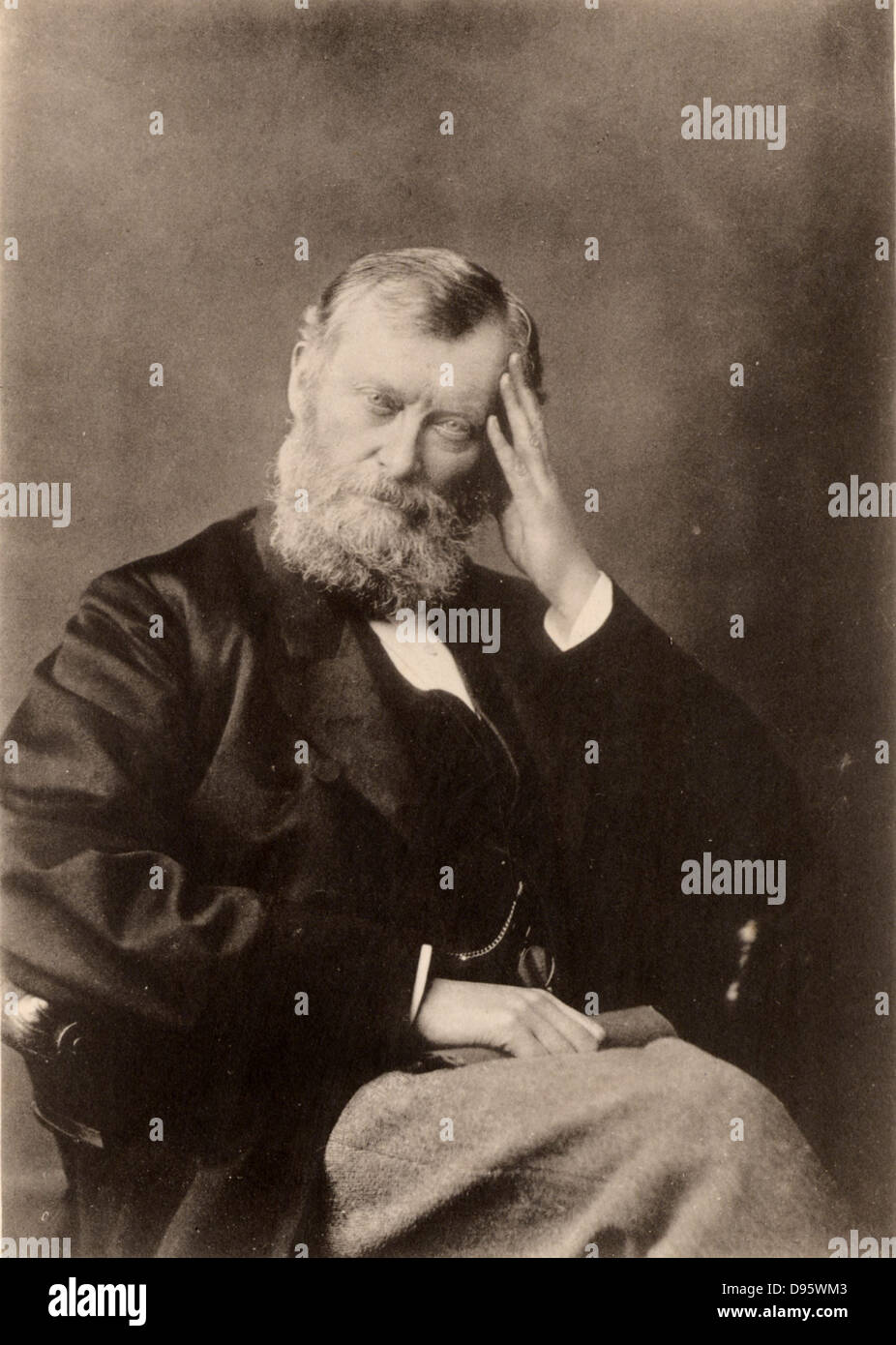 William Edward Forster (1818-1886) English Liberal politician: Elementary Education Act (1870) Chief secretary for - Stock Image