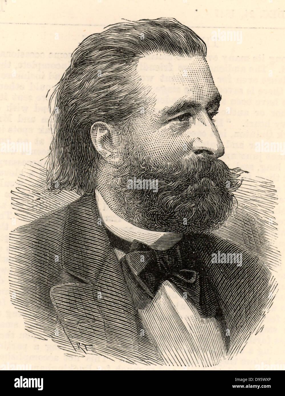 Ernst von Bergmann (1836-1907) German surgeon who introduced the sterilisation of surgical instruments.  He was - Stock Image