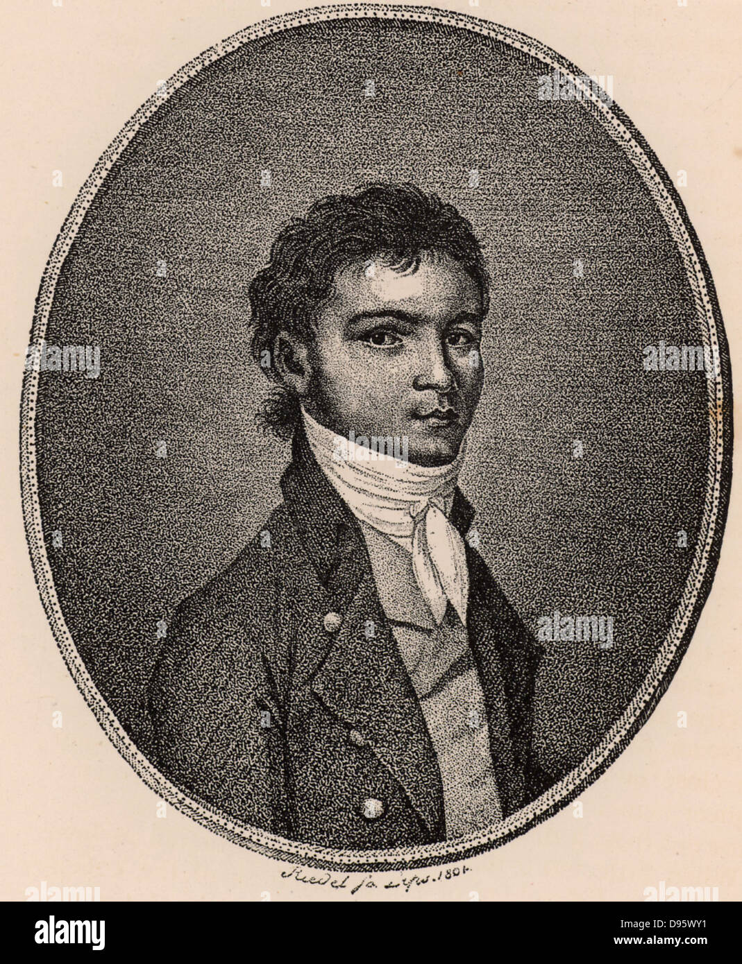 Ludwig van Beethoven (1770-1827) German composer, a bridge between the Classical and Romantic styles. Beethoven - Stock Image