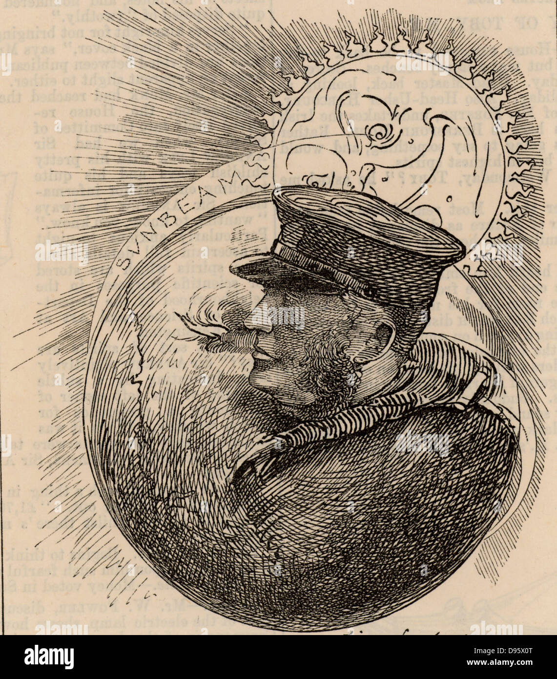Thomas Brassey, lst Earl Brassey (1836-1918) English Liberal politician and eldest son of Thomas Brassey the eminent - Stock Image