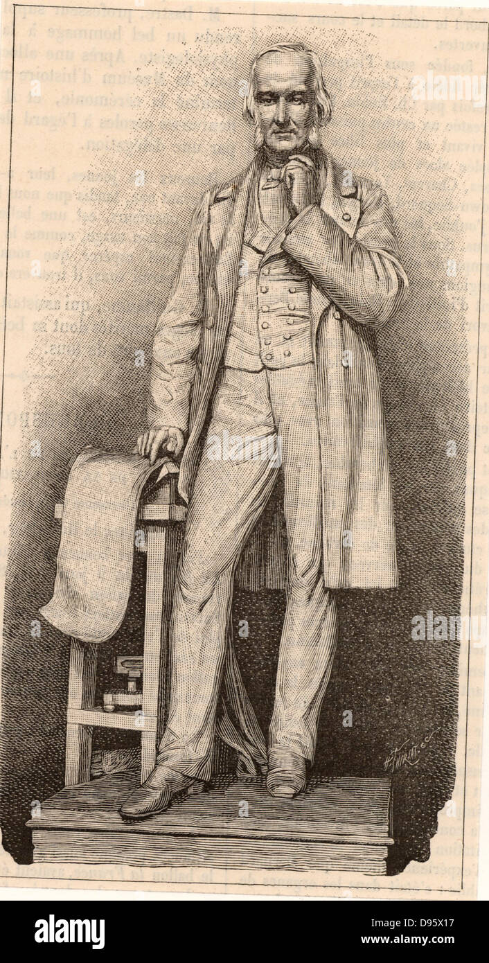 Claude Bernard (1813-1878) French physiologist who applied scientific method to medicine. Engraving from 'La Nature' Stock Photo