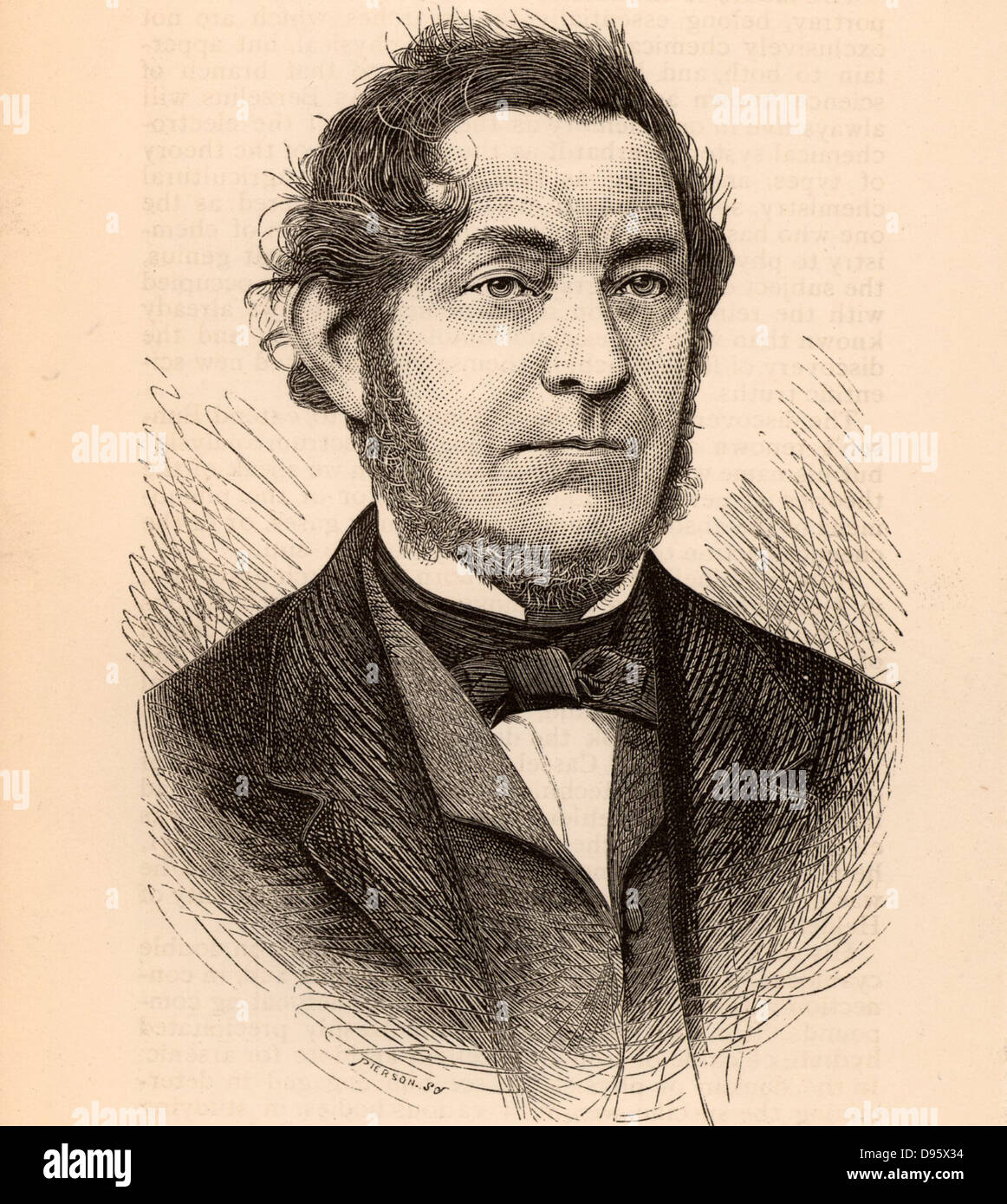 Robert Wilhelm Eberhard von Bunsen (1811-1899) German chemist and spectroscopist.  The Bunsen burner, the gas burner - Stock Image