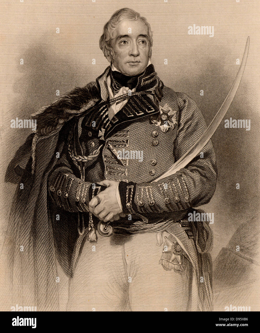 Thomas Graham, Baron Lynedoch (1750-1843) Scottish general who fought in  the Napoleonic Wars. He served under Sir - Stock Image