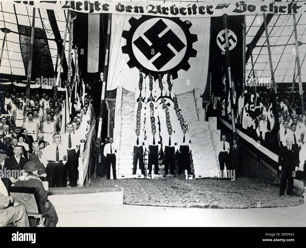Nazi rally in the USA, 1930s. - Stock Image