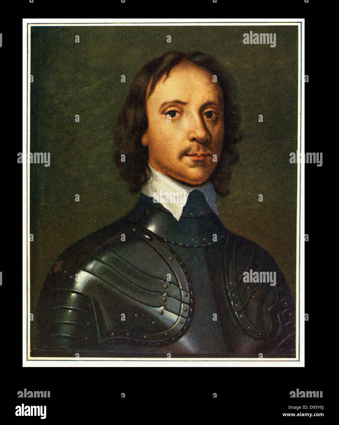 Oliver Cromwell (1599-1658) English soldier and statesman. Leading Parliamentarian in the English Civil Wars. Lord - Stock Image