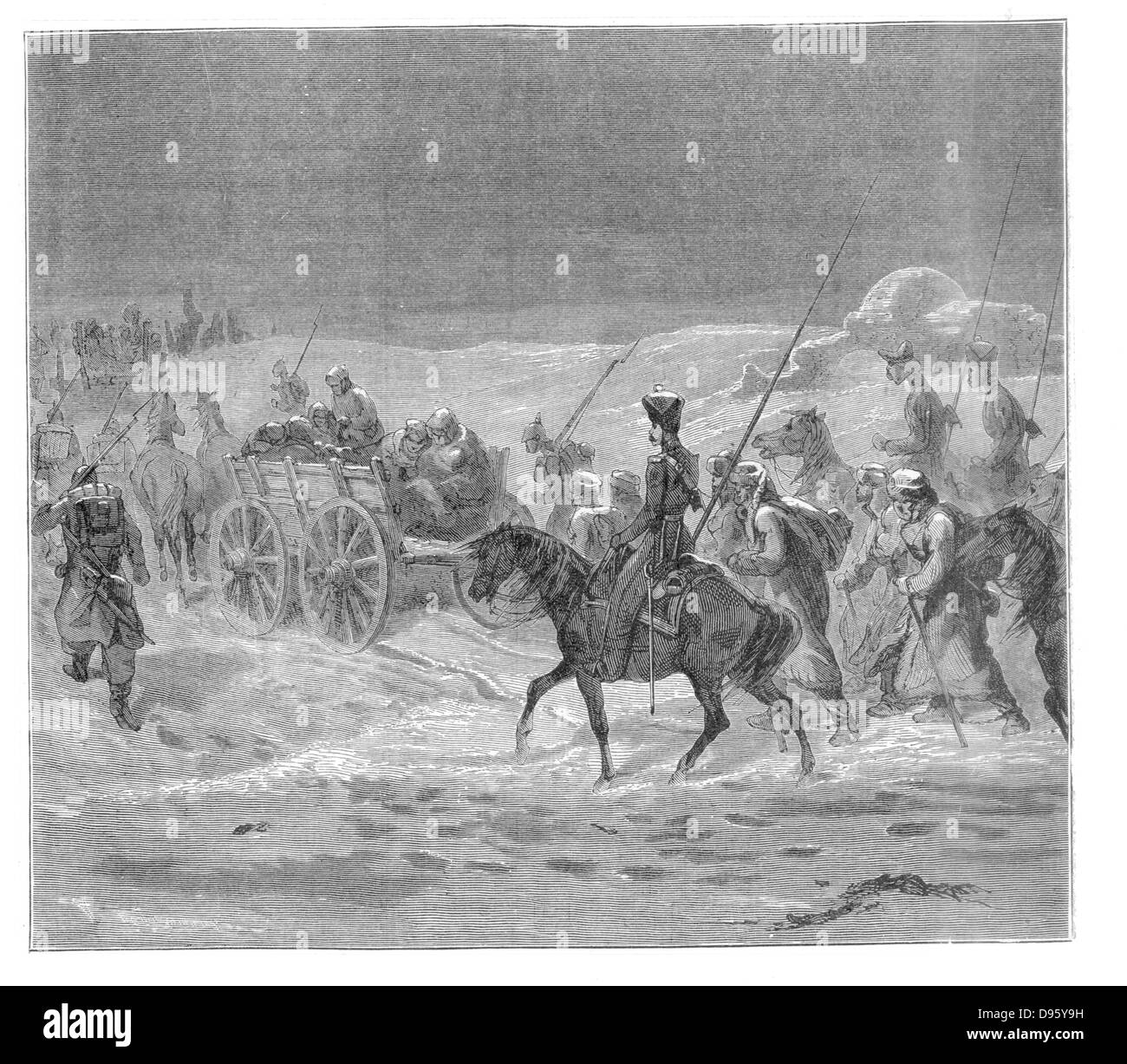 Prisoners on the road to exile in Siberia. From 'The Countries of the World', London, c1880. Engraving. - Stock Image