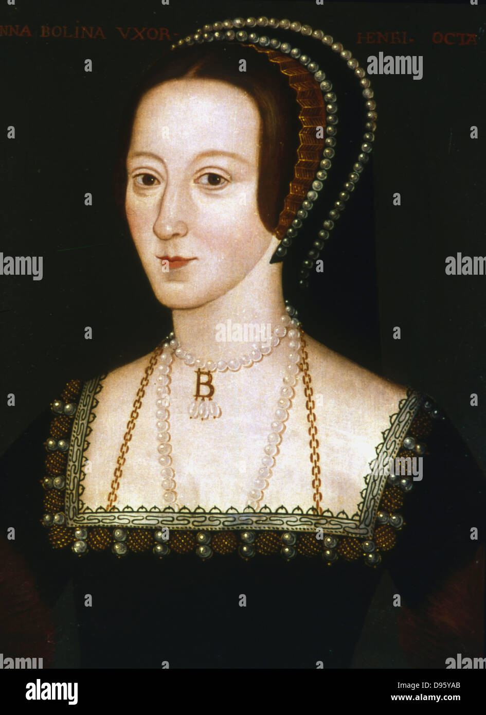 Anne Boleyn (c1504-1536) second wife of Henry VIII of England, mother of Elizabeth I. Beheaded 19 May 1536. Anonymous - Stock Image