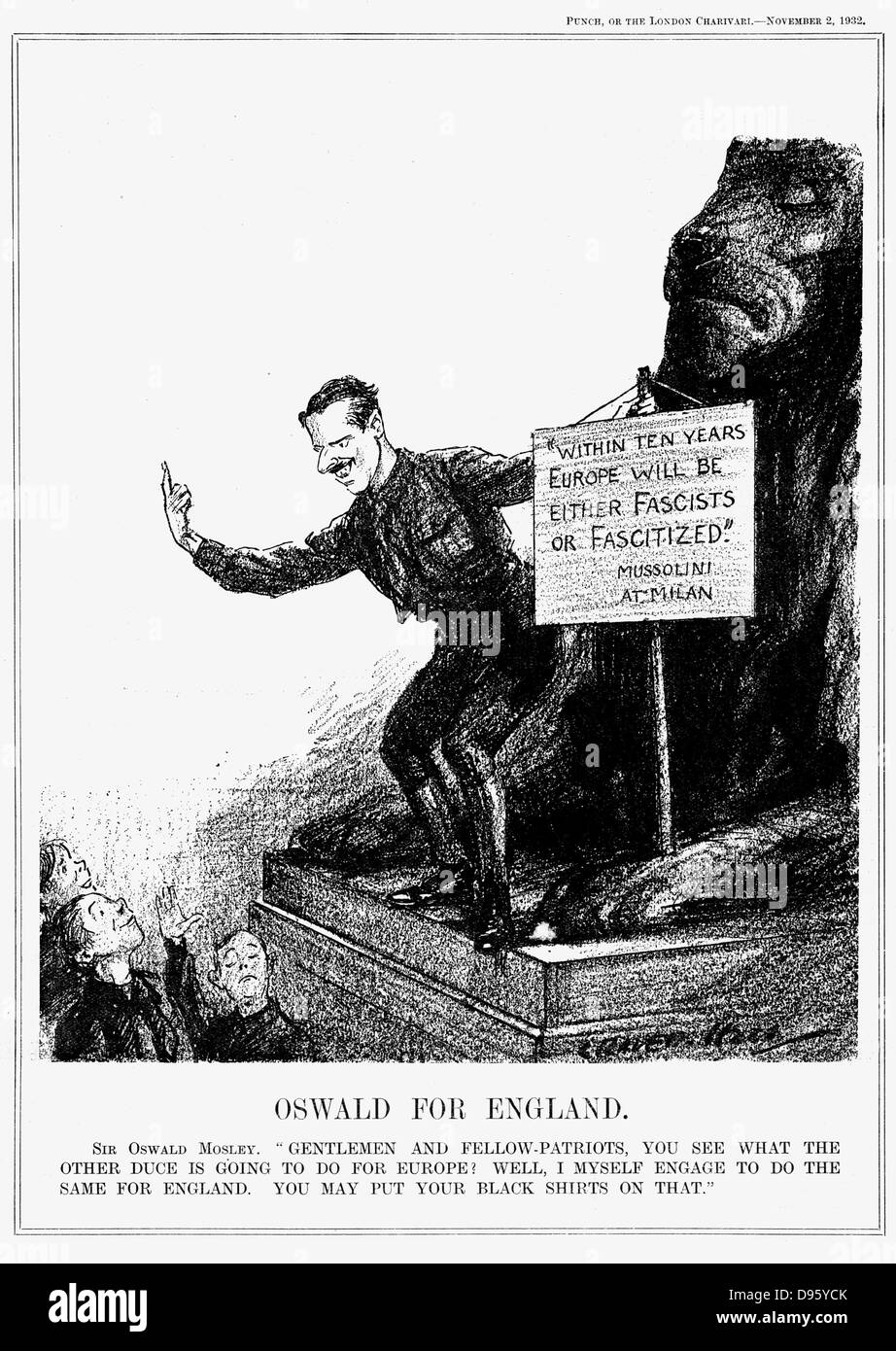 Oswald for England': Oswald Ernald Mosley (1896-1980) English politician, successively Conservative, Independent - Stock Image