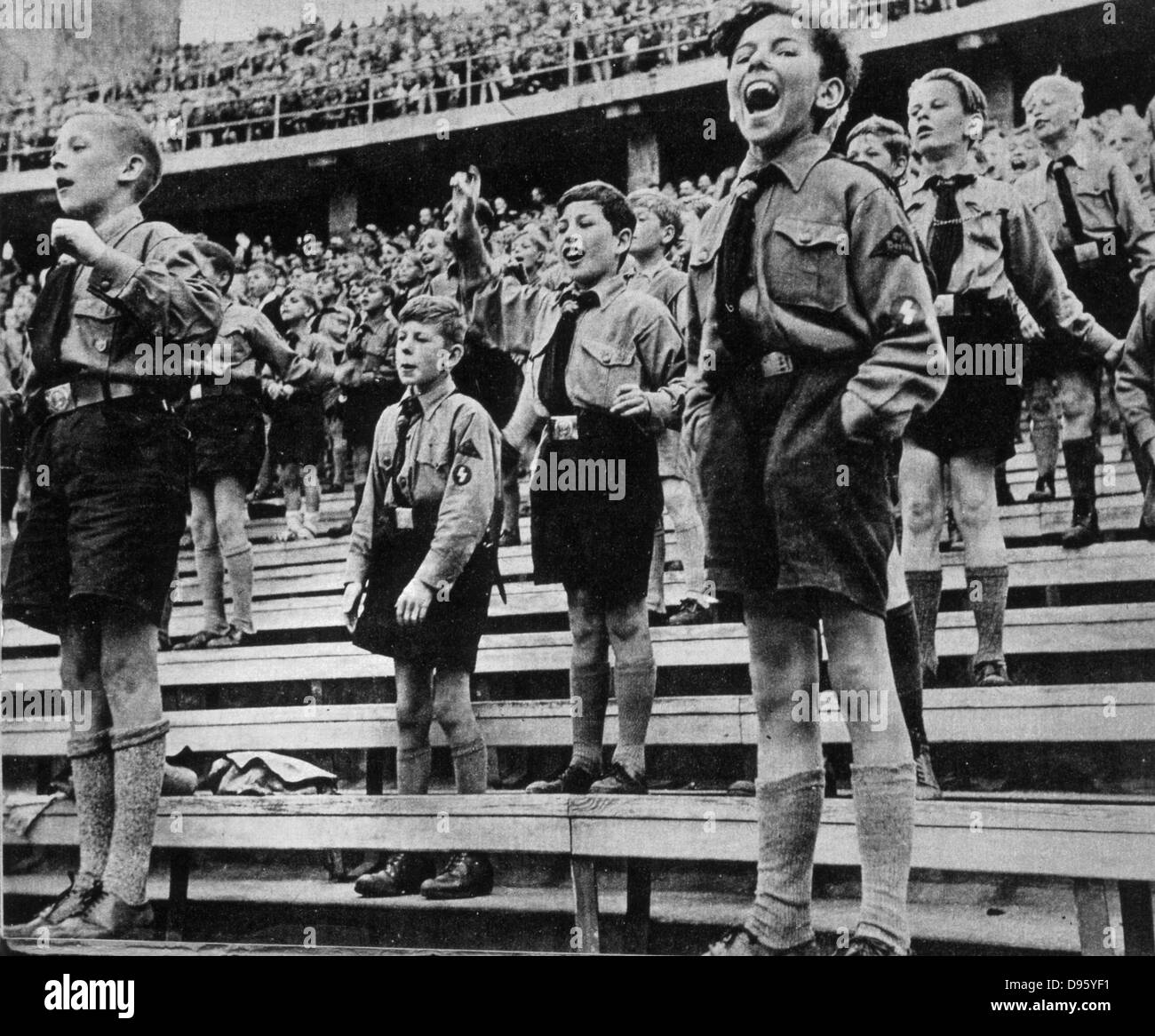 Germany:  Rally of Nazi Youth, 1930s. - Stock Image