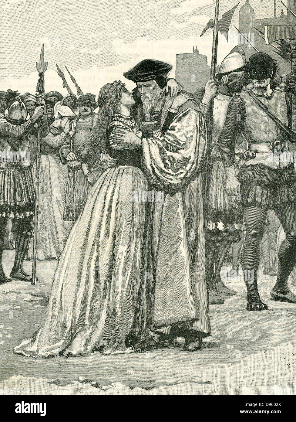 Thomas More (1478-1535) English scholar and statesman. Author of 'Utopia', friend of Erasmus. Lord Chancellor - Stock Image
