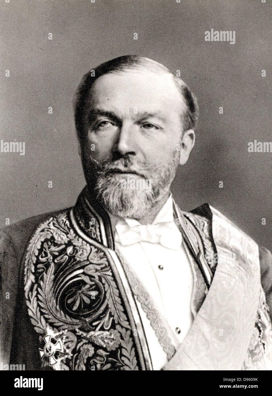 Philip Alexander zu Eulenburg-Hertefeld (1847-1921) German politician and diplomat. Friend of the Kaiser. - Stock Image