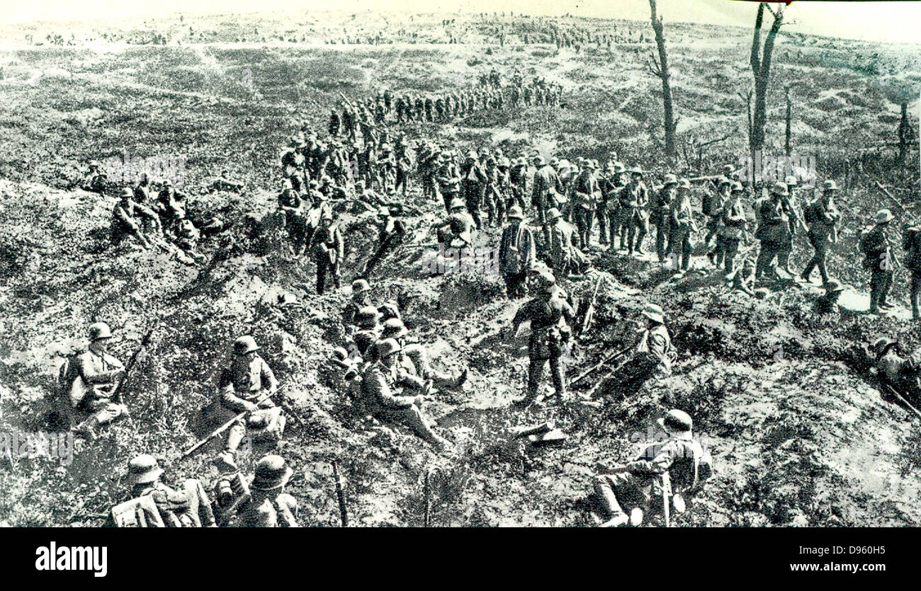 German soldiers on the Front in World War I. - Stock Image