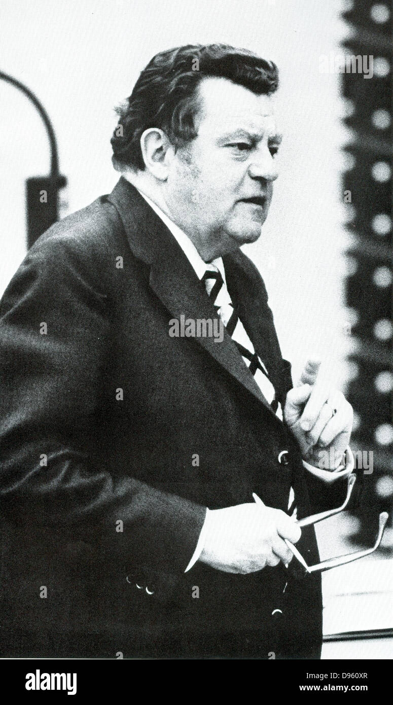Franz Josef Strauss (1915?1988)  German politician (CSU) and long-time minister-president of the state of Bavaria. Stock Photo