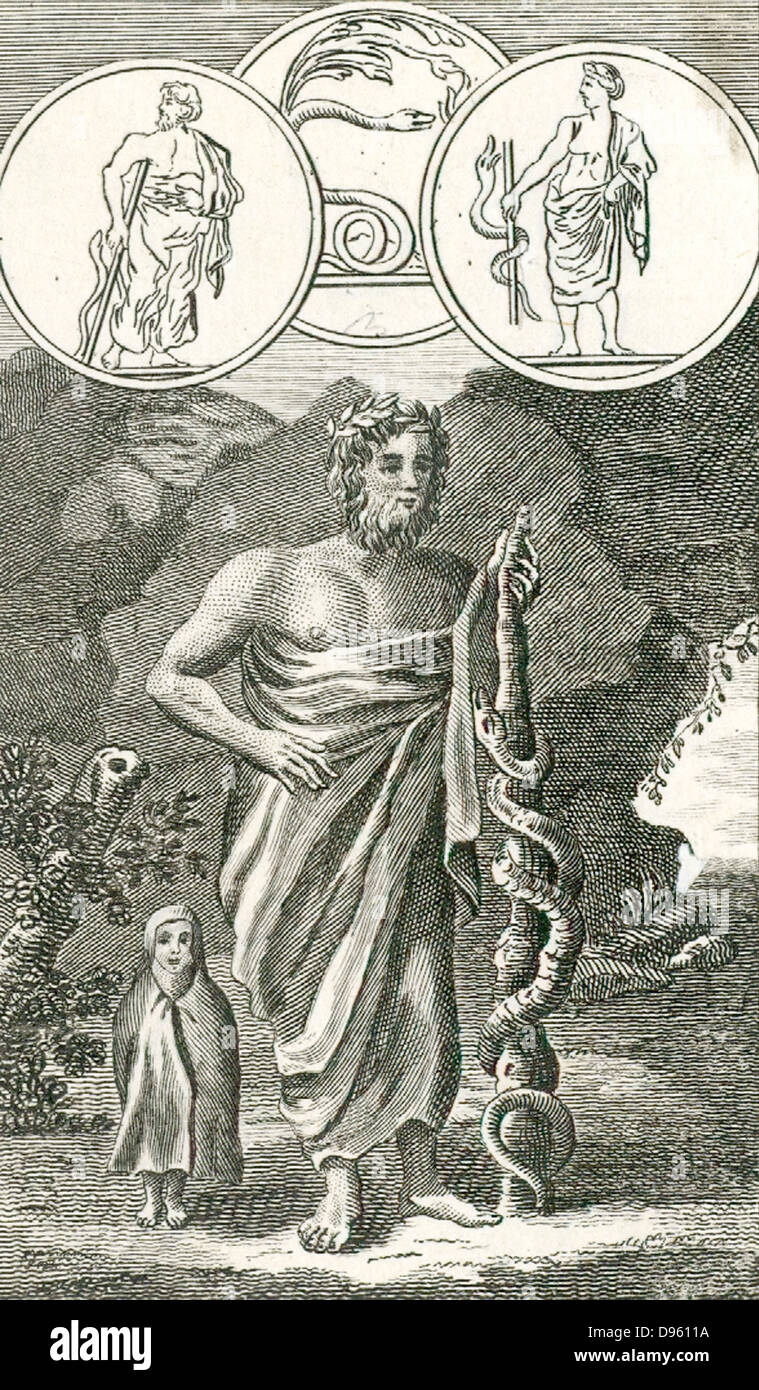 Aesculapius Asklepios Roman And Greek God Of Healing Son Of