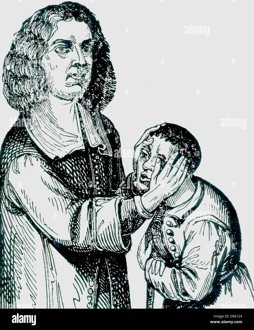 Valentine Greatracks or Greatorex (1628-1666), known as Grearakes the Stroker. Greatracks 'touched' for - Stock Image