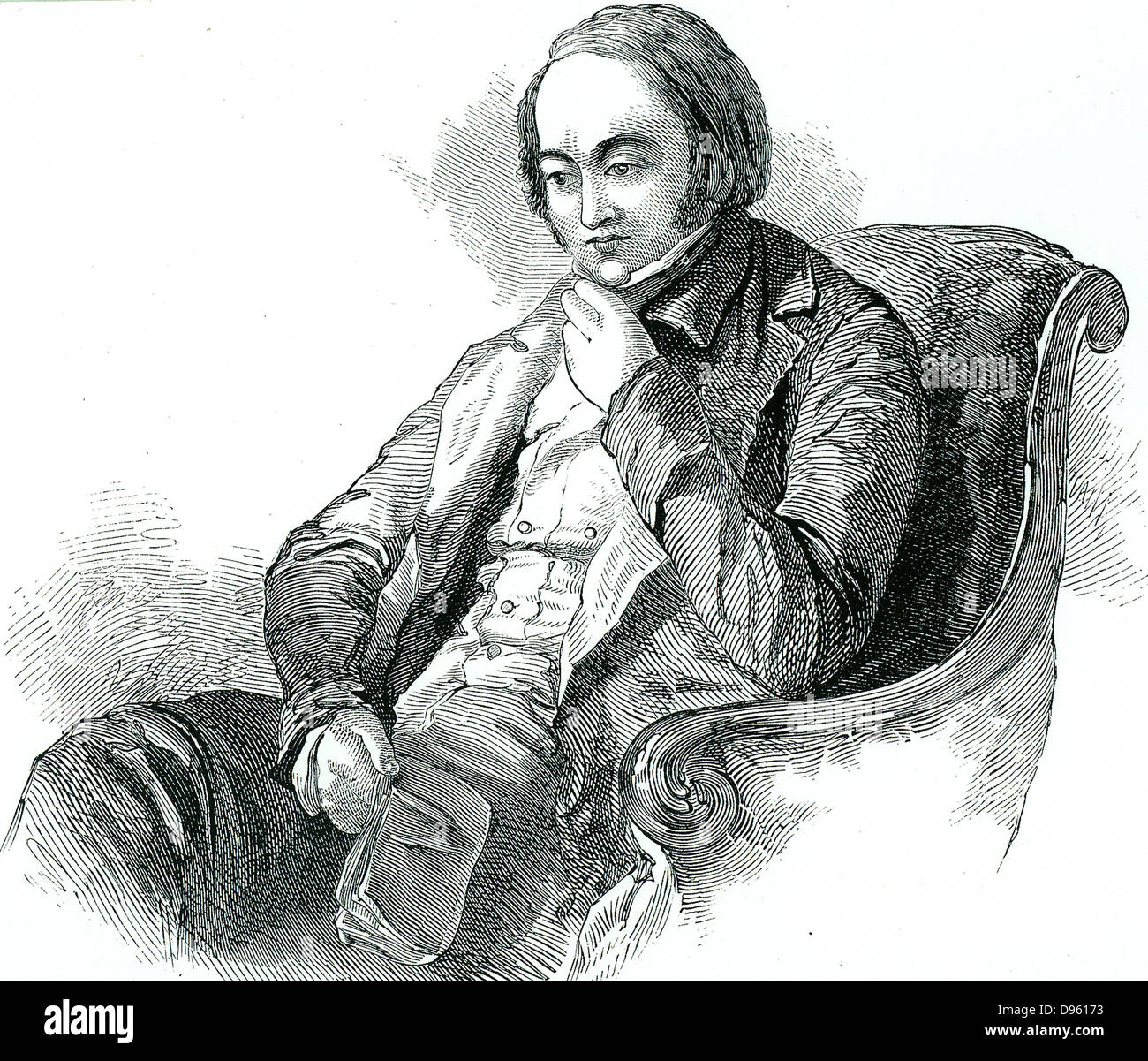 Edwin Chadwick (1800-1890) champion of sanitary improvements. The Public Health Act of 1848 was due largely to him, - Stock Image