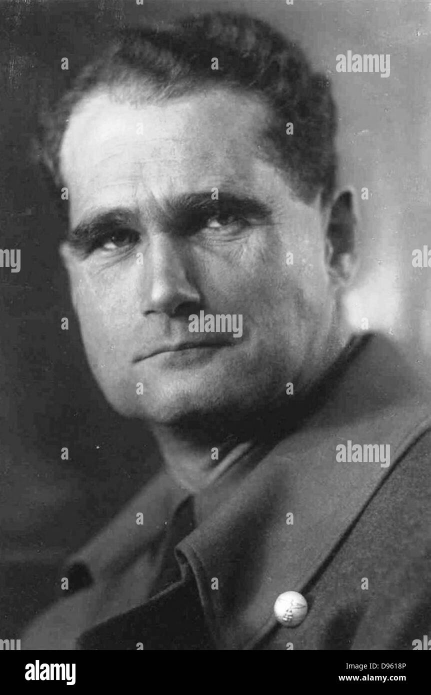 Rudolf Hess (1894–1987) prominent figure in Nazi Germany.  Acted as Adolf Hitler's deputy in the Nazi Party - Stock Image