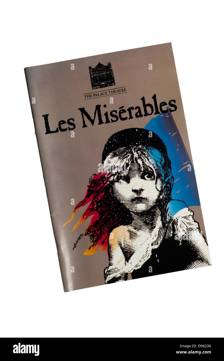 Programme for the 1985 production of Les Misérables at The Palace Theatre. - Stock Image