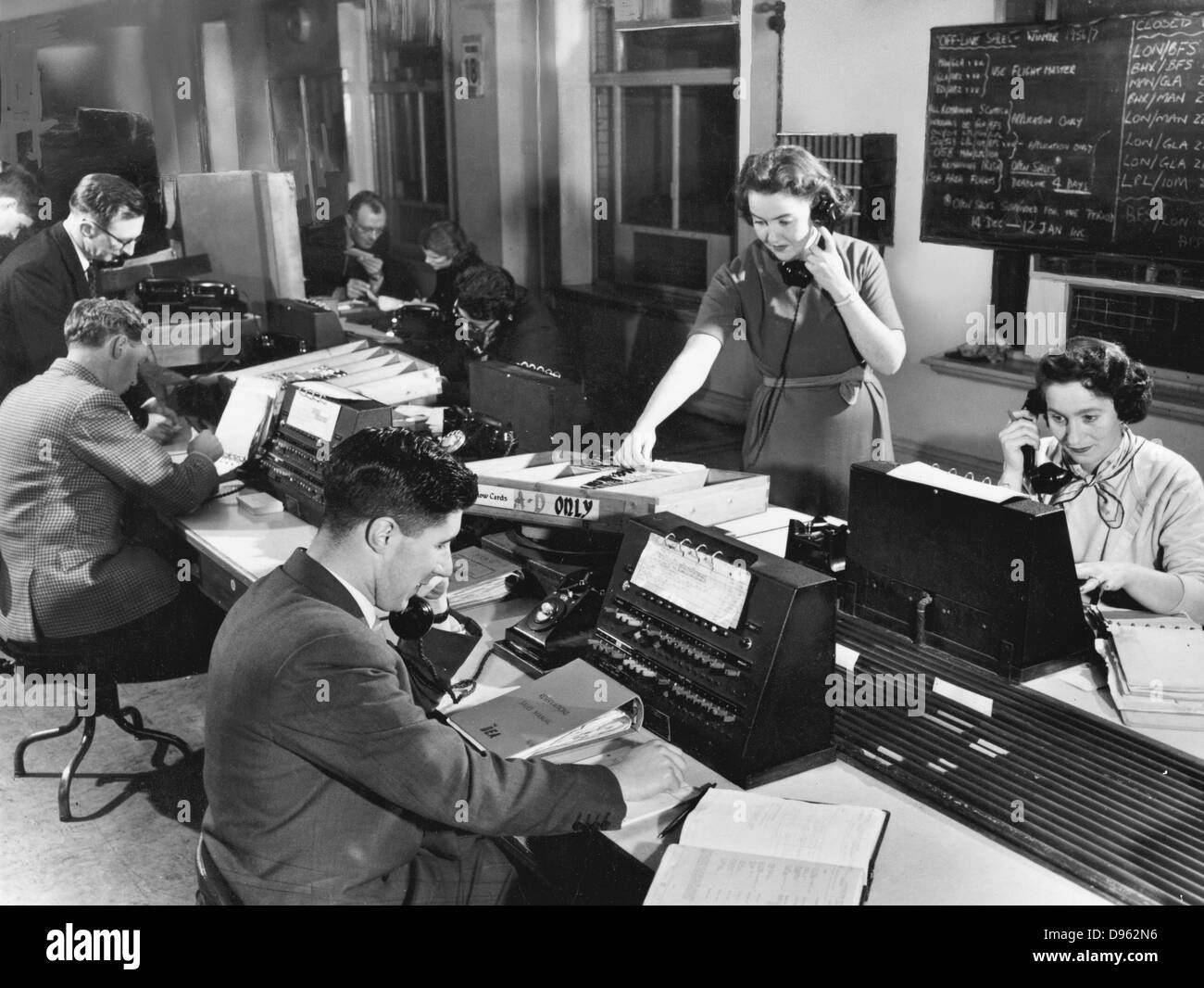 Song of the Clouds - telephone switchboard, 1956 - Stock Image