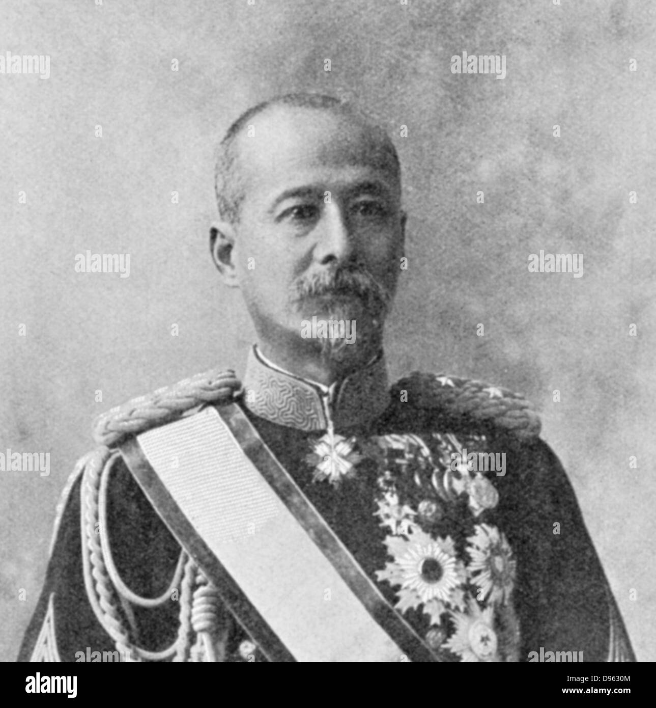 Kodama Gentaro (1852-1905) Japanese soldier and statesman, responsible for Japanese victory in Manchuria during - Stock Image