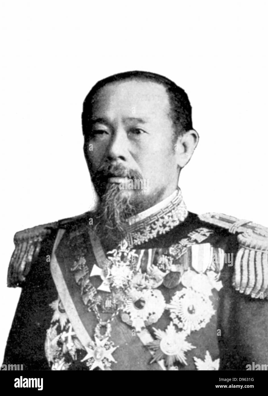 Marquis Hirobumi Ito (1838-1909), Japanese statesman. - Stock Image