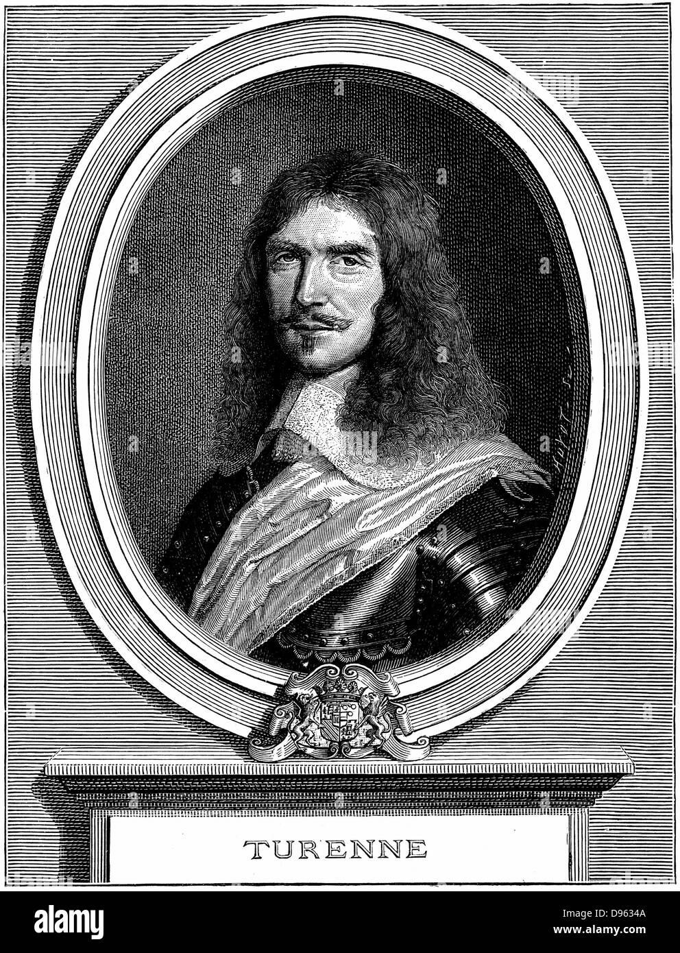 Henri de la Tour d'Auvergne, Vicomte de Turenne  (1611-75). Protestant soldier. Marshal of France. Thirty Years - Stock Image