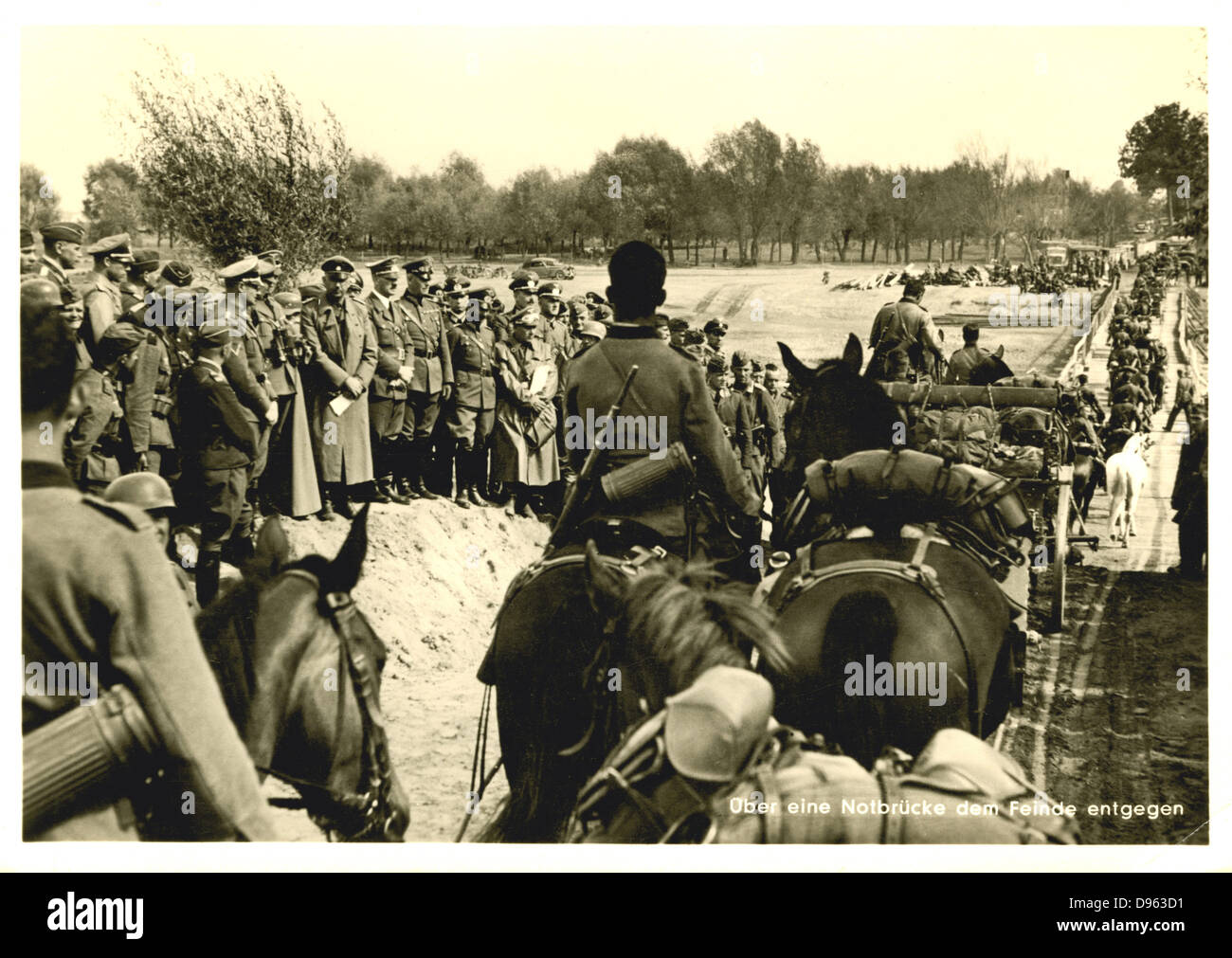 World War 2: German advance into Poland, September 1939. - Stock Image